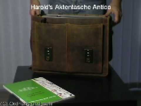 Harold's Leder Lehrertasche Aktentasche 079703