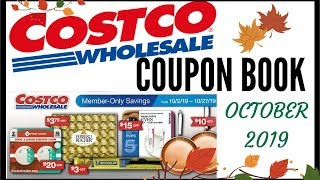 🍁OCTOBER 2019 COSTCO COUPON BOOK 💵 COSTCO MEMBER ONLY SAVINGS DEALS 2019 ● OCT 10/2/19 - 10/27/19