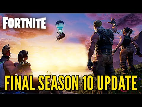 FORTNITE FINAL SEASON 10 UPDATE Countdown + Gameplay (Fortnite SEASON 11 EVENT Update)