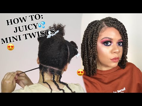 How To Do Mini Twists On Natural Hair As A Protective Style - No Added Hair Needed! (DETAILED)