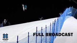 The Real Cost Men's Snowboard Big Air: FULL BROADCAST   X Games Aspen 2020