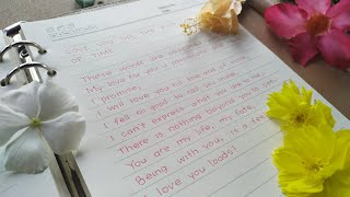 best love letters to your girlfriend in english | romantic love letter for girlfriend | handwriting