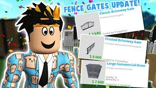THE NEW BLOXBURG UPDATE!! FENCE GATES, NEW OVENS AND MORE!