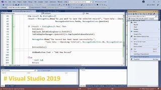 Visual Studio 2019 (VB.NET) Connecting to Data in an Access Database Part 3/3