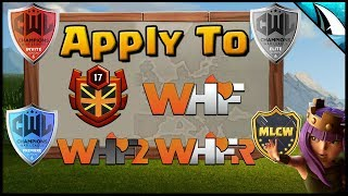 *Join WHF* Application Process - Guide To Apply for WHF TH 10 - 12 | Clash of Clans