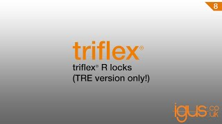 Separating triflex® R locks ( TRE version only)
