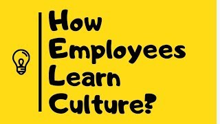 How employees learn culture? in Urdu/Hindi