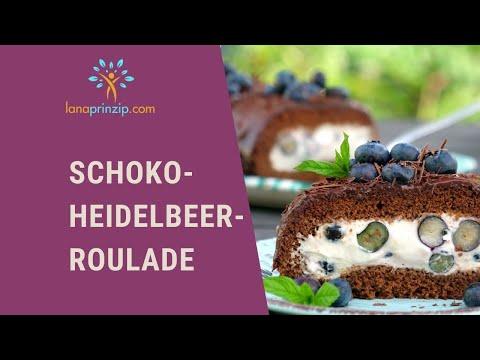 Einfach backen: Mein Schoko Heidelbeer Rouladen Rezept - Biskuitrolle richtig einrollen