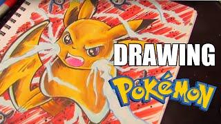 How To Draw Pikachu POKEMON Speed Drawing