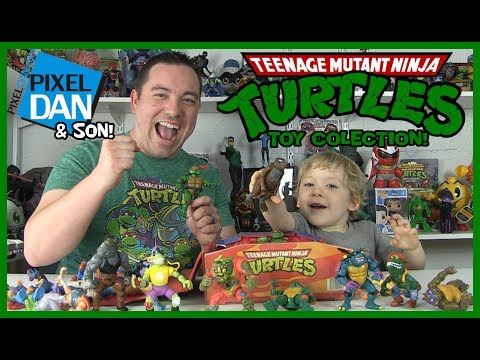 Teenage Mutant Ninja Turtles Action Figures - Pixel Dan And Son Toy Collection!