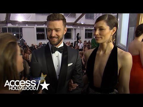 Justin Timberlake Reacts To Jessica Biel's Fab Golden Globes Look