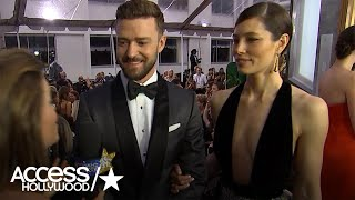Justin Timberlake Reacts To Jessica Biels Fab Golden Globes Look