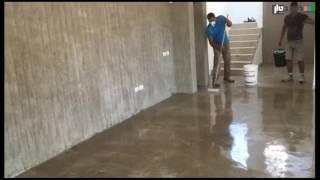 חיפוי בטון שילוב רצפה וקיר