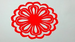 Easy Paper Cutting Technique To Create Flower Chain 123vid