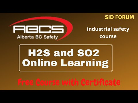 FREE H2S and SO2 Online Learning with Certificate | Alberta BC ...