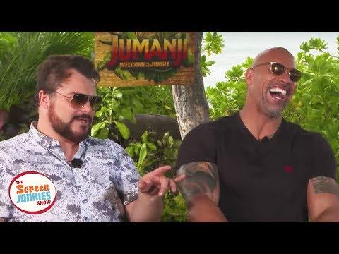 Jack Black Impersonates The Rock (Jumanji Cast Interview) (видео)