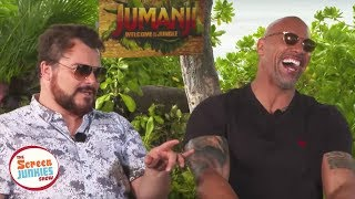 Download Youtube: Jack Black Impersonates The Rock (Jumanji Cast Interview)