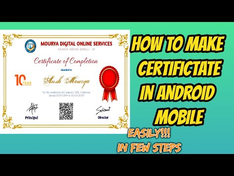 How to make Certificate in Android Mobile!!!