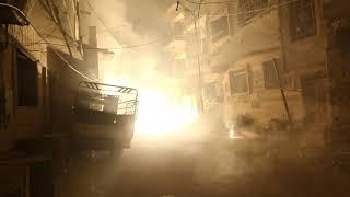 Последствия бомбардировки города Дума в Восточной Гуте