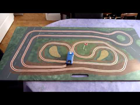 The 18th Hole (routed slot car track)