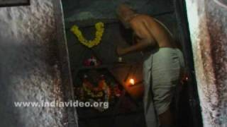 The priest and the rituals at Yantrodharaka Hanuman temple, Hampi