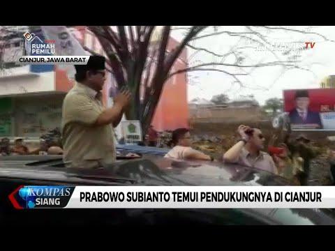 Tiba di Cianjur, Prabowo Disambut Antusias Para Pendukungnya