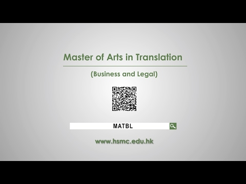 Master of Arts in Translation (Business and Legal)