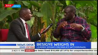 Uganda's Opposition leader Kiza Besigye weighs in on Raila's withdrawal from the elections