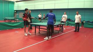 Damon Albarn, Blur & Gorillaz, plays table tennis doubles with England players for Radio 4