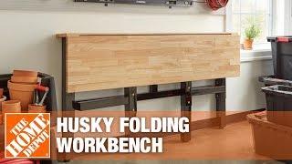 Husky Folding Workbench | Garage Storage Ideas
