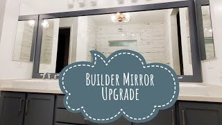 How to add a Frame to your Bathroom Mirror | Easy DIY