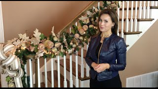 How To Create a Breathtaking Christmas Garland for Your Stairway