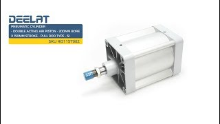 Pneumatic Cylinder - Double Acting Air Piston - 200mm Bore x 150mm Stroke - Pull Rod Type - SI