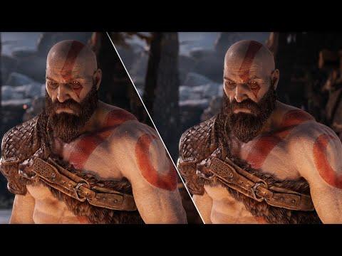 Comparaison en vidéo du jeu sur PS4/PS4 Pro  de God of War