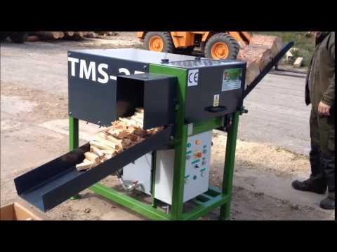 TMS 25 Zündholzautomat Firewood Processor Anzündholzautomat Spaltautomat Brennholzautomat