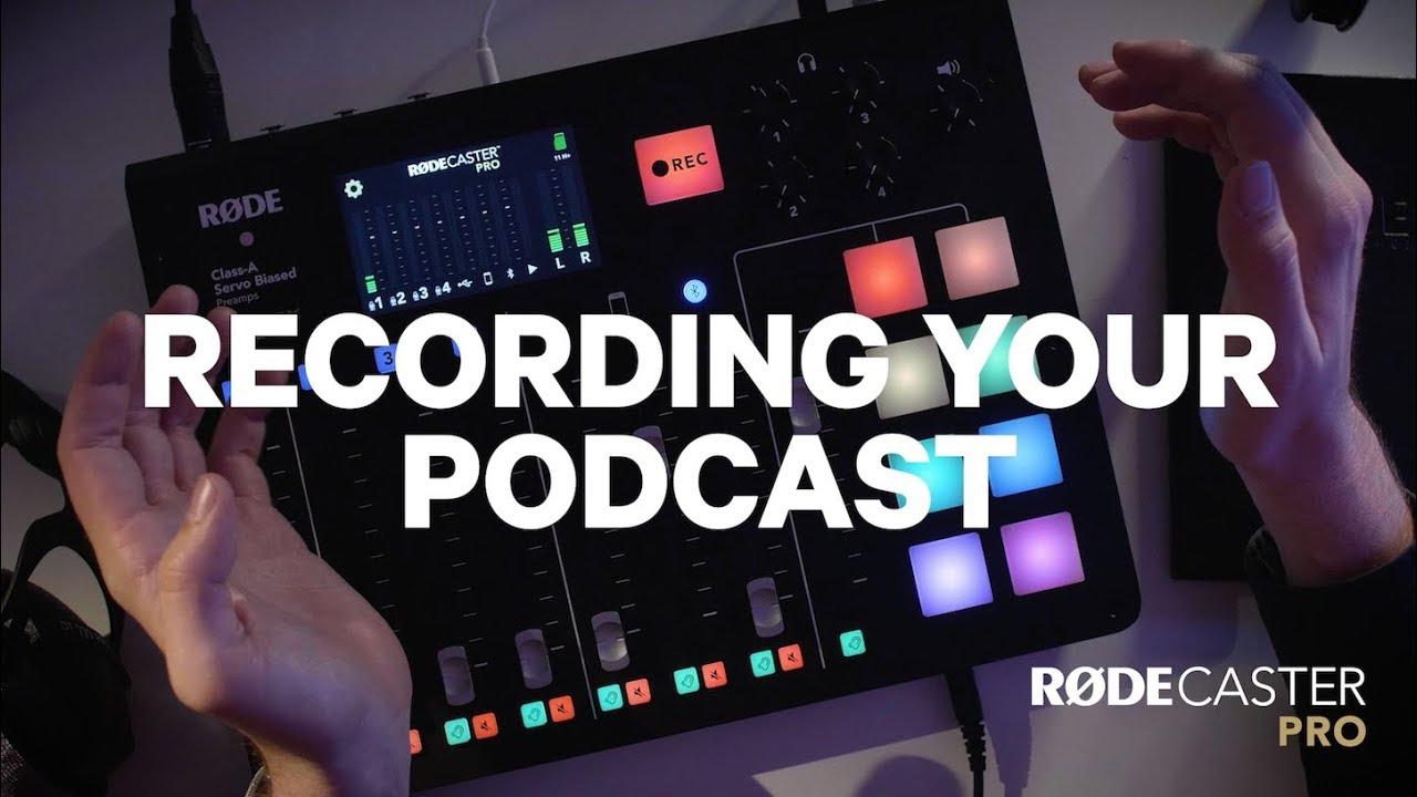 Nahrávání podcastu