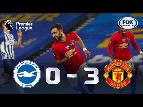 VITÓRIA E GOLAÇO DE BRUNO FERNANDES! Lances de Brighton 0 x 3 Manchester United pela Premier League