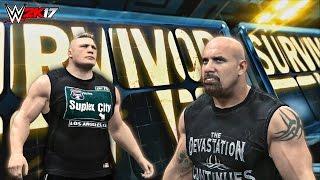 WWE 2K17 Goldberg vs Brock Lesnar Promo