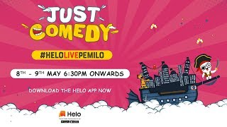 #HeloLivePeMilo | Just Comedy | Zakir Khan | Atul Khatri | Rahul Dua & Many More | Latest Comedy2020