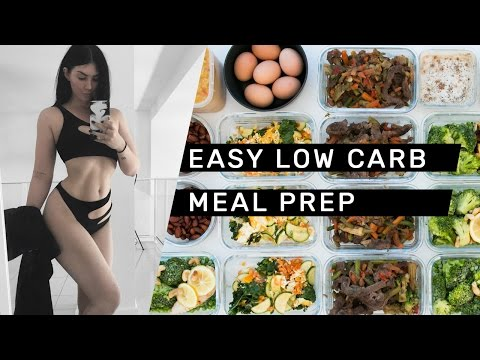 Video EASY LOW CARB MEAL PREP (gluten free + dairy free) // Rachel Aust