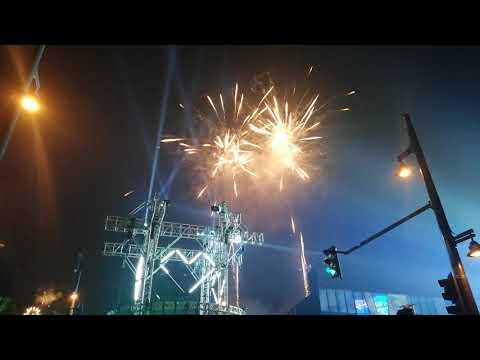 New Year countdown and firework 2019 in BGC, Manila