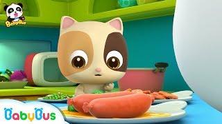 Baby Kitten Loves Eating Hams   Learn Vegetables   Kids Good Habits   BabyBus