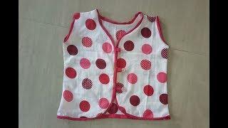 How To Make A Easy Newborn Baby Jhabla/cotton Dress