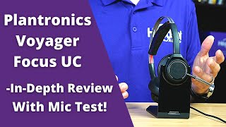 Plantronics Voyager Focus UC  In Depth Review With Mic Test!