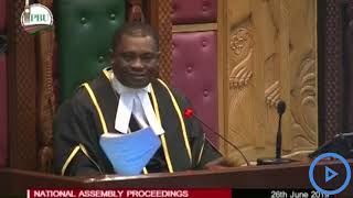 Speaker Muturi warns MPs against loose talk on Jaguar remarks