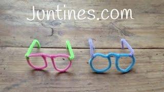 Manualidades con limpiapipas - Gafas coloridas