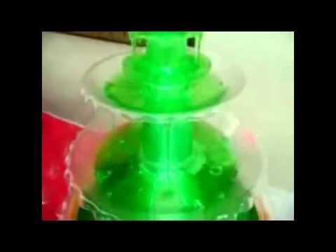 Fuente iluminada para bebidas y coctel