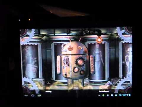 Video of Steampunk Droid Fear Lab LWP