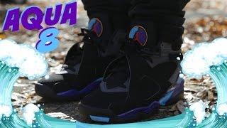 "2015 Jordan 8 VIII ""Aqua"" w/ On Foot | Kholo.pk"