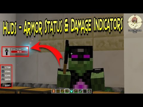Huds - Armor Status| Indicador De Estado De Armadura Y Vidas | Minecraft 1.11.2| Mod Review Español